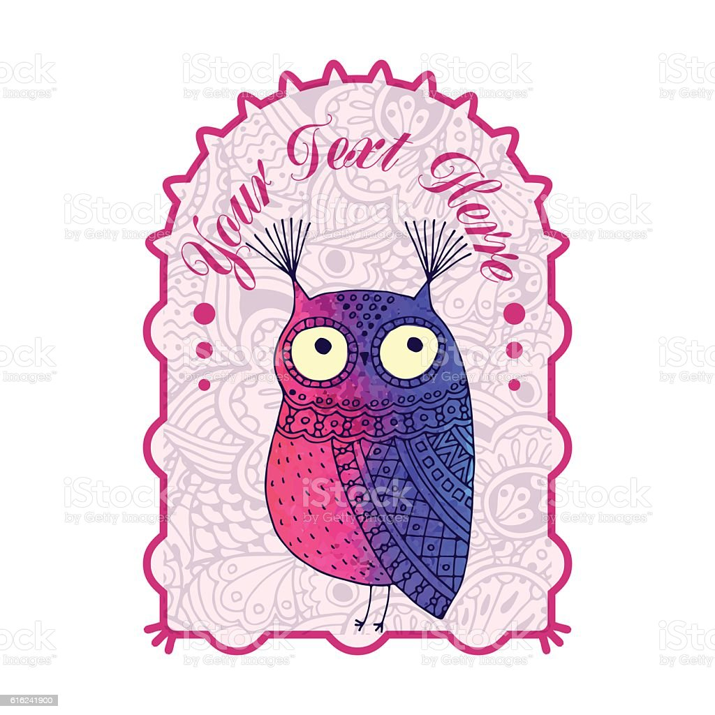 Owl graphic. Abstract royalty-free stock vector art