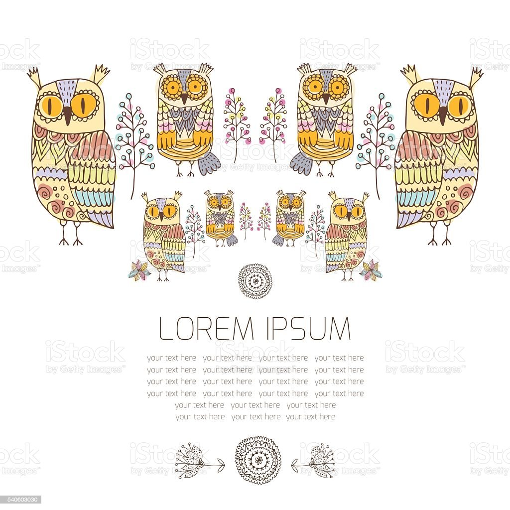 owl graphics royalty-free stock vector art