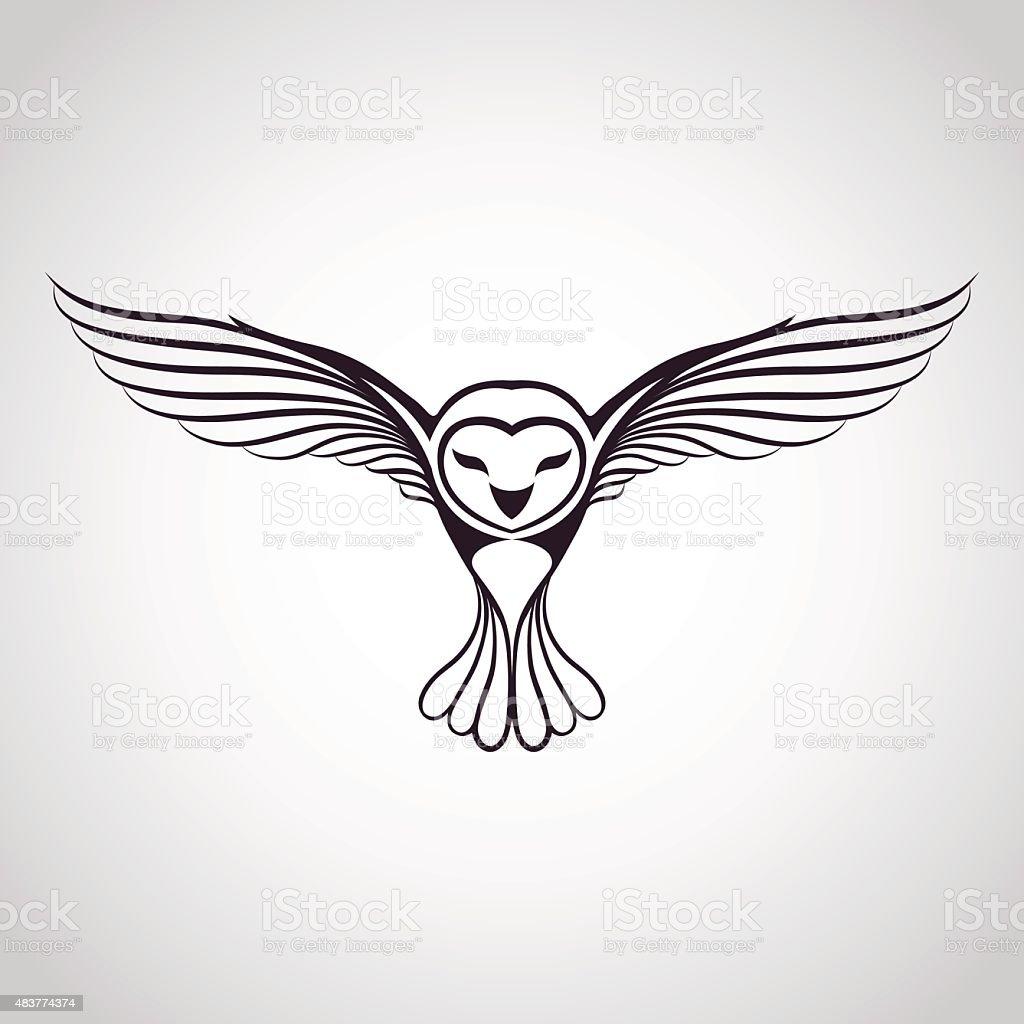 owl icon vector art illustration