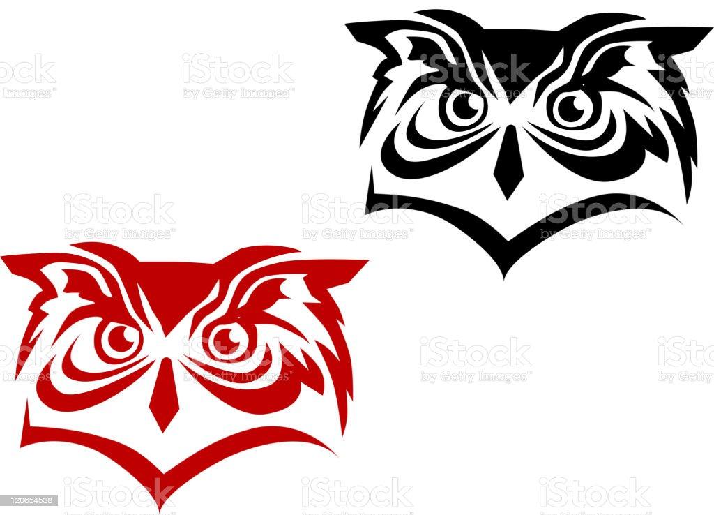 Owl mascot royalty-free stock vector art