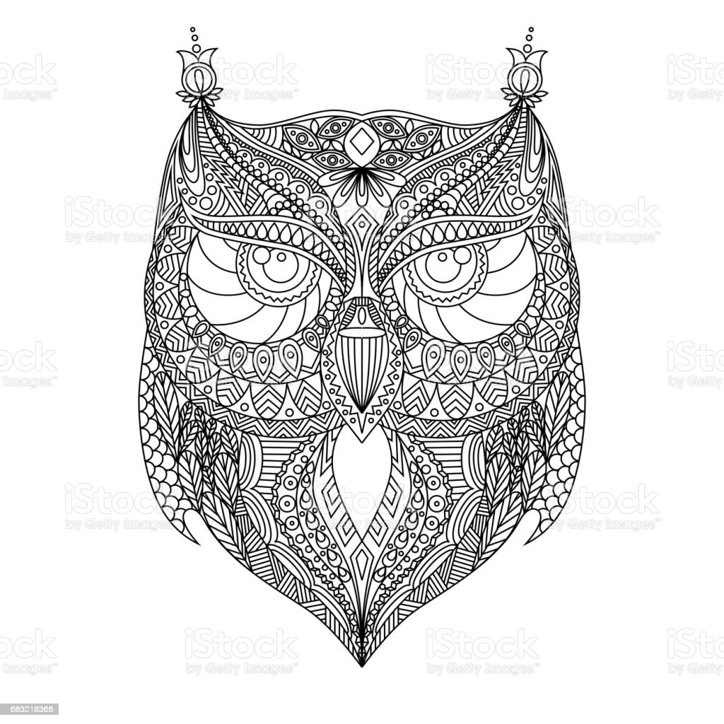 owl outline silhouette stock vector art 683218368 istock