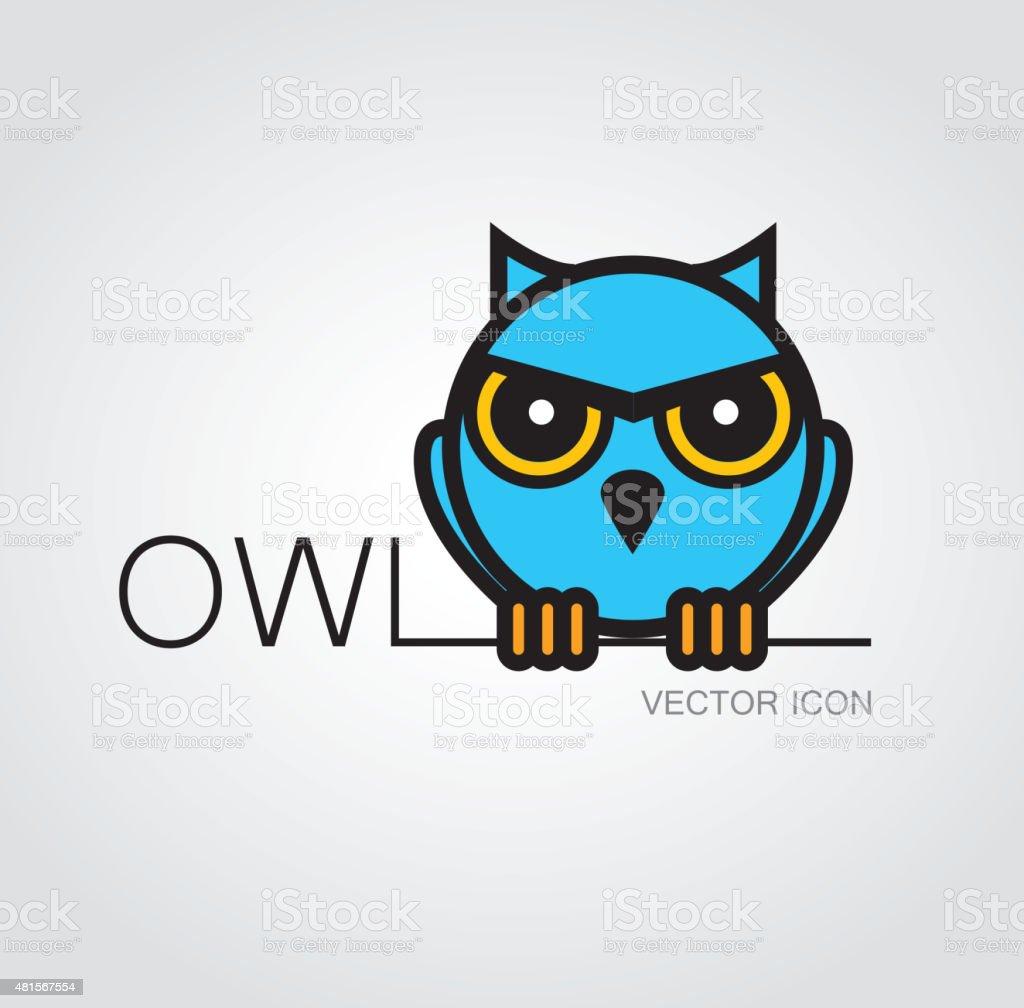 Owl symbol vector art illustration