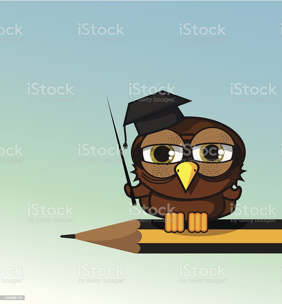 Owl teacher royalty-free stock vector art