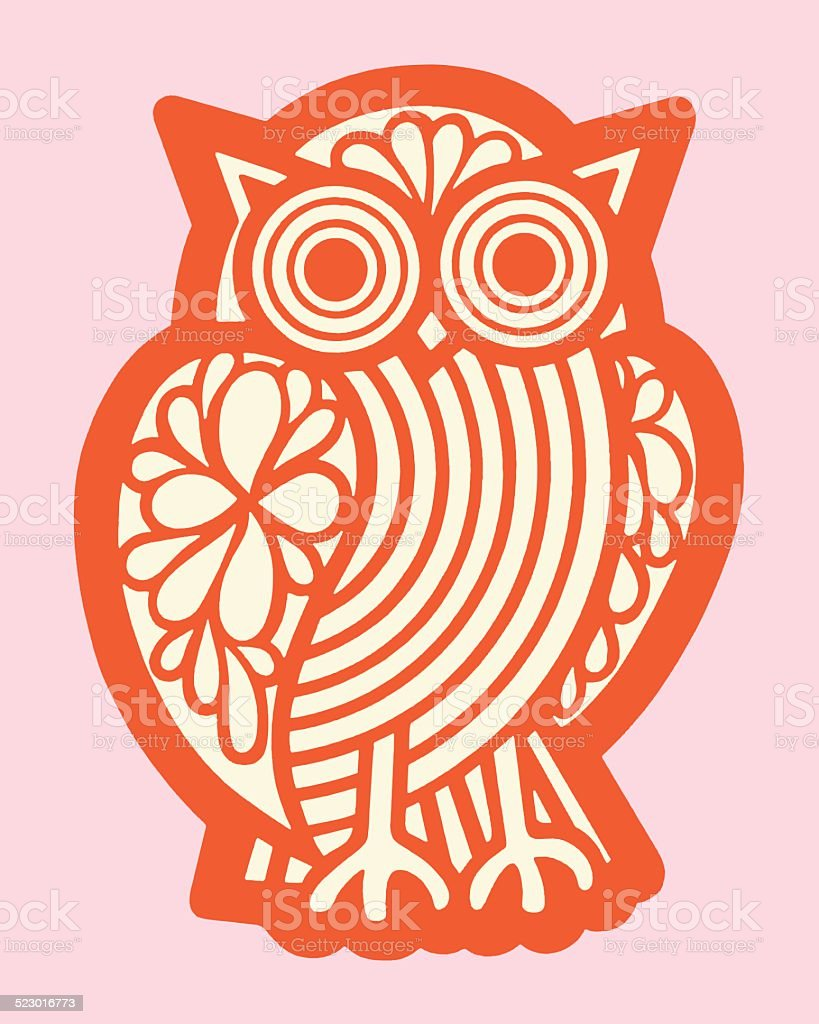 Owl vector art illustration