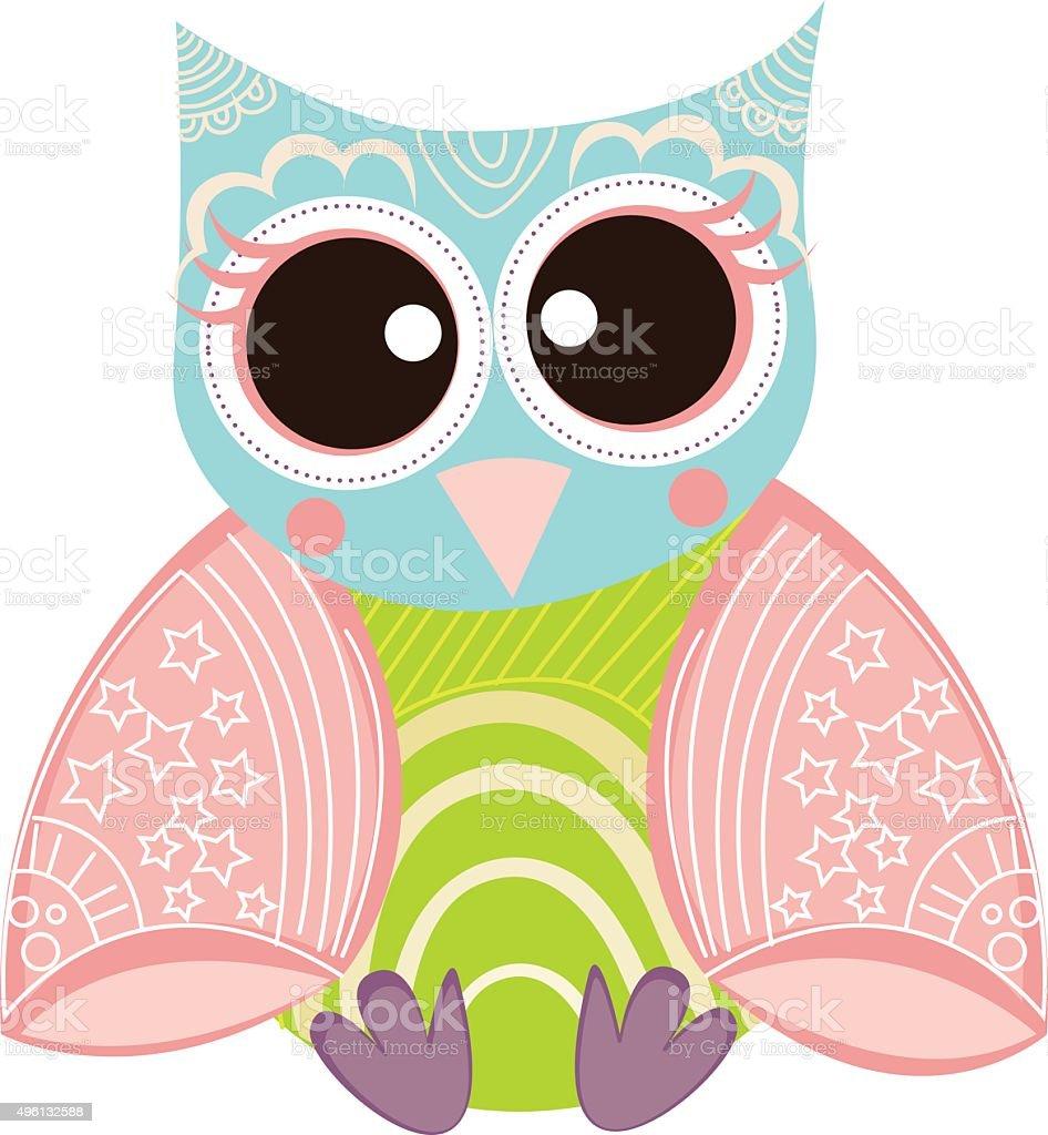 Owl Vector vector art illustration