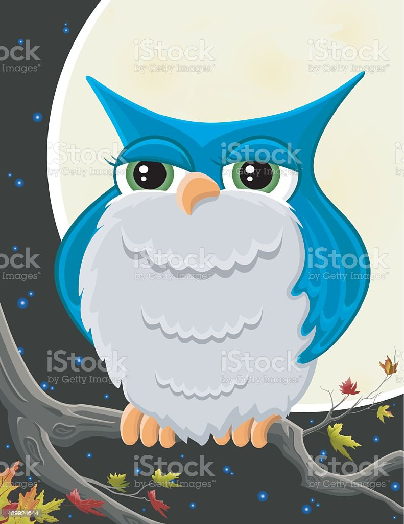 Owl/Hibou vector art illustration