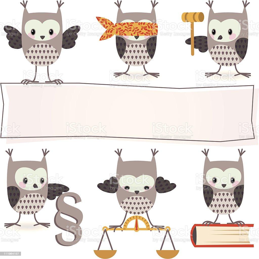 Owl&law royalty-free stock vector art
