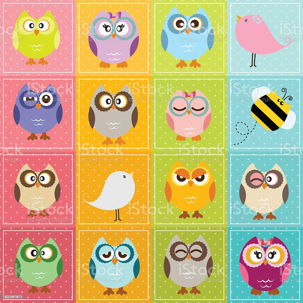 owls royalty-free stock vector art