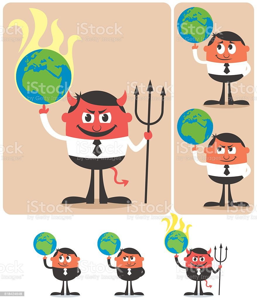 Owning Earth vector art illustration