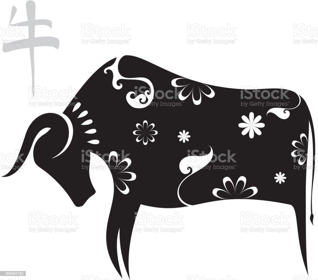 ox year 2009 royalty-free stock vector art