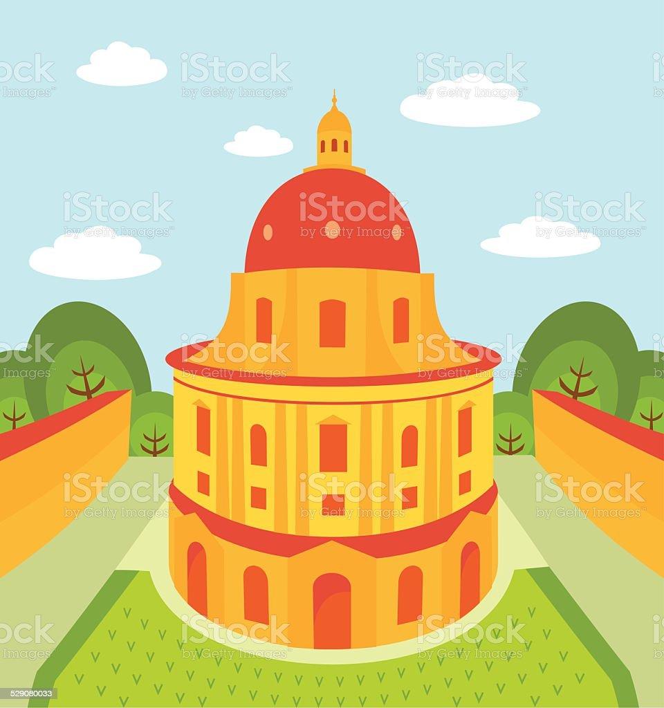 Oxford University vector art illustration