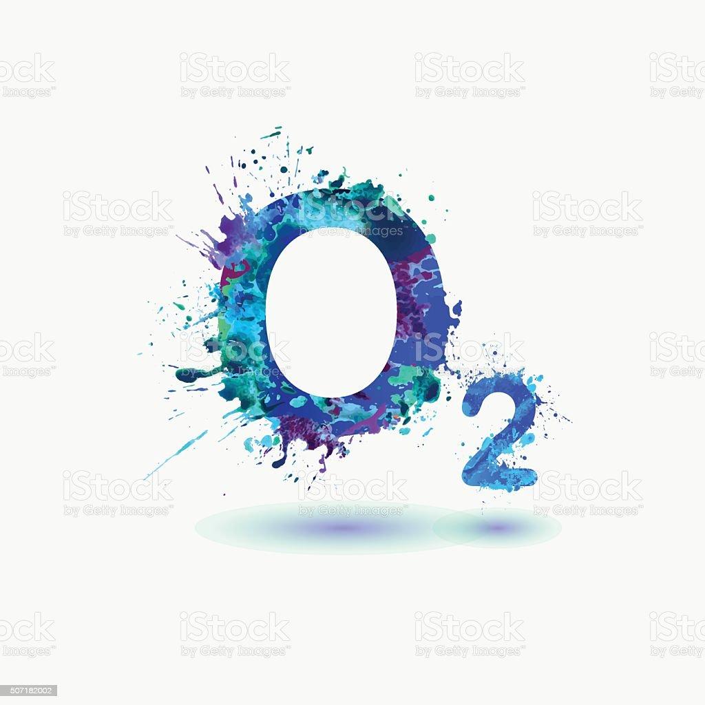 o2 oxygen formula icon splash paint stock vector art splash vector free download splash vector png