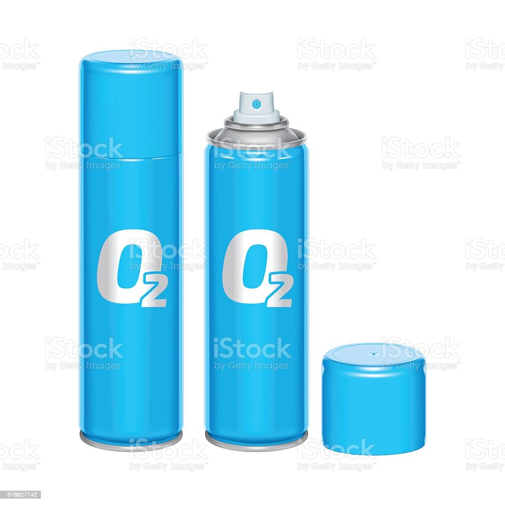 oxygen spray can vector art illustration