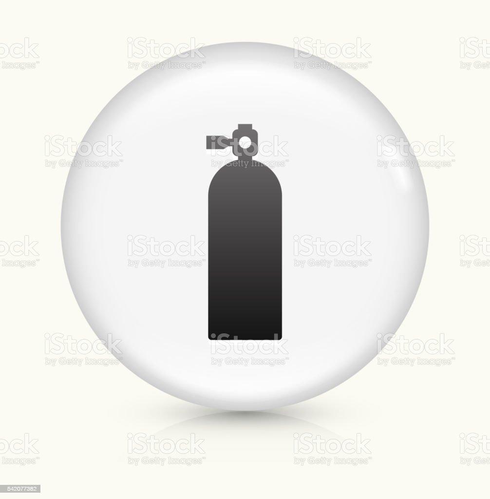 Oxygen Tank icon on white round vector button vector art illustration