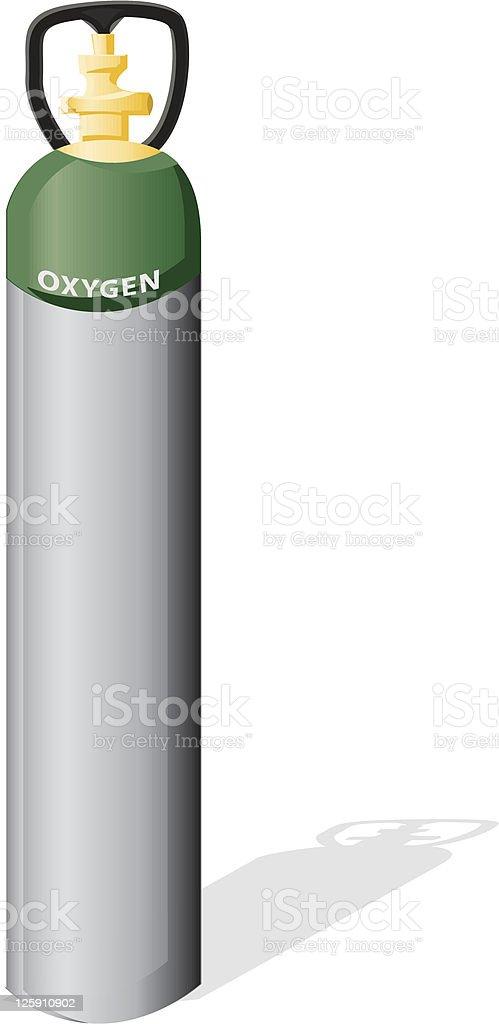 Oxygen Tank vector art illustration