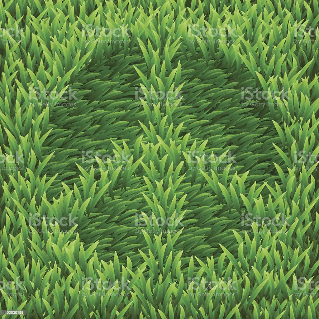 Pacific on green grass royalty-free stock vector art
