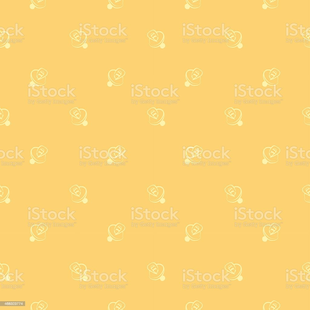 pacifiers pattern vector art illustration