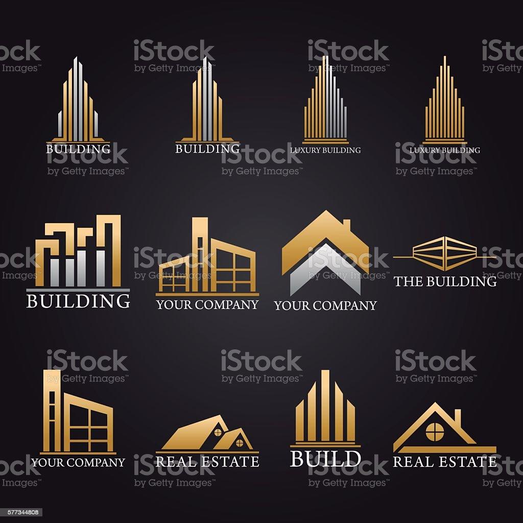 Pack Logos and Symbols Real Estate Vector Design vector art illustration