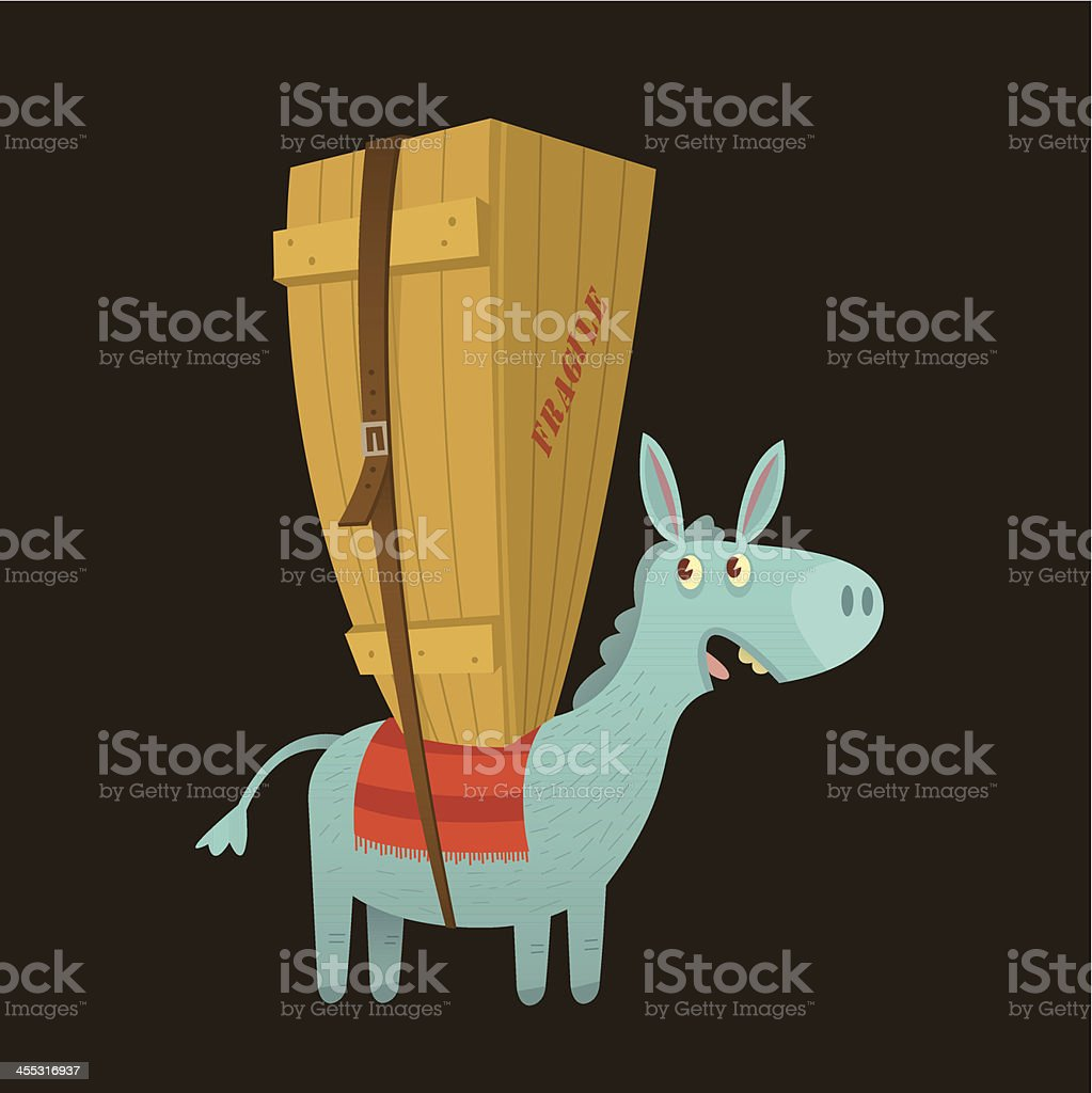 Pack Mule royalty-free stock vector art
