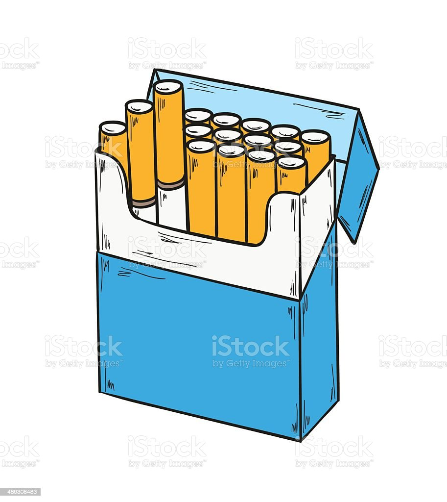 pack of cigarettes royalty-free stock vector art