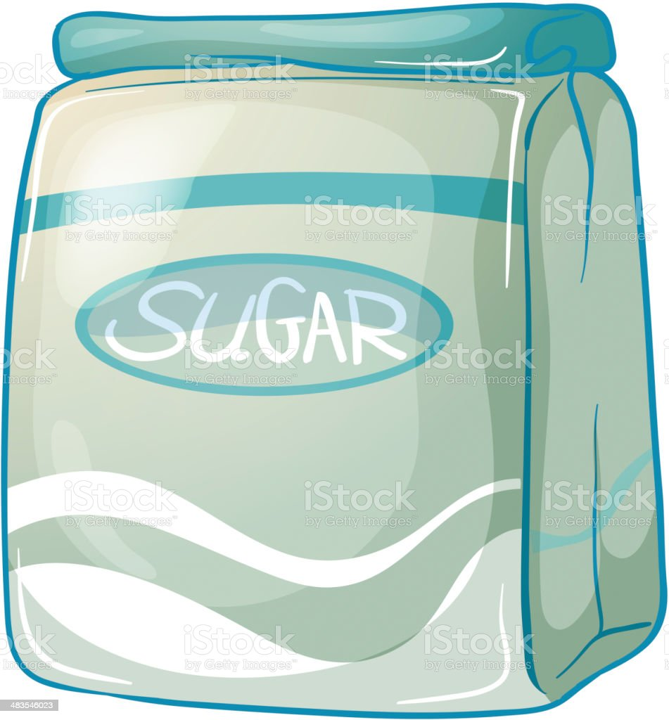 pack of sugar royalty-free stock vector art