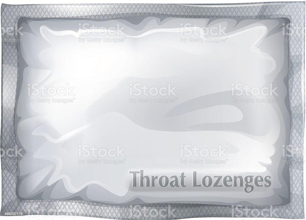Pack of throat lozenges vector art illustration