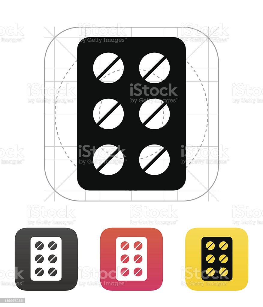 Pack pills icon. Vector illustration. royalty-free stock vector art