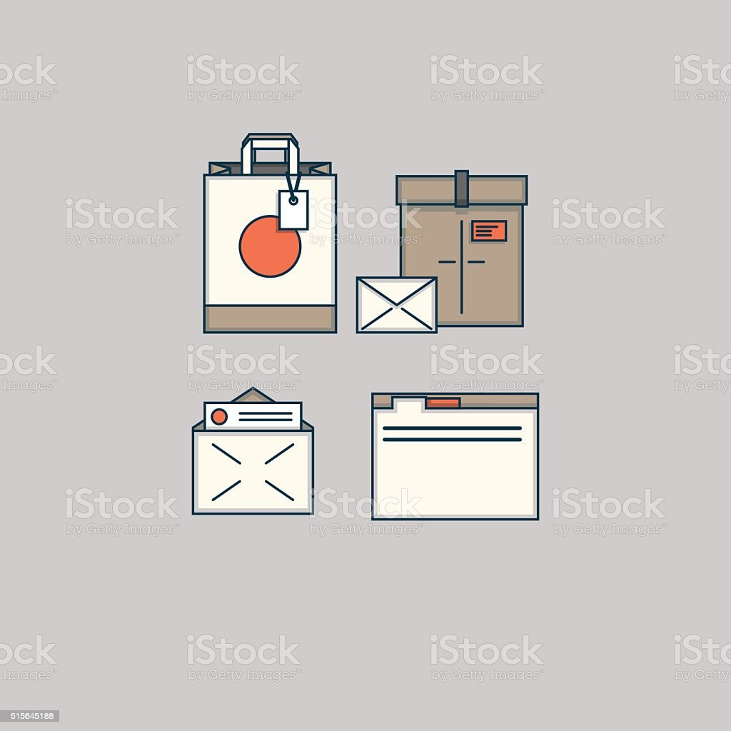 Package boxes vector art illustration