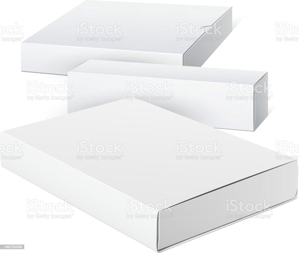 Package Cardboard Box Set vector art illustration