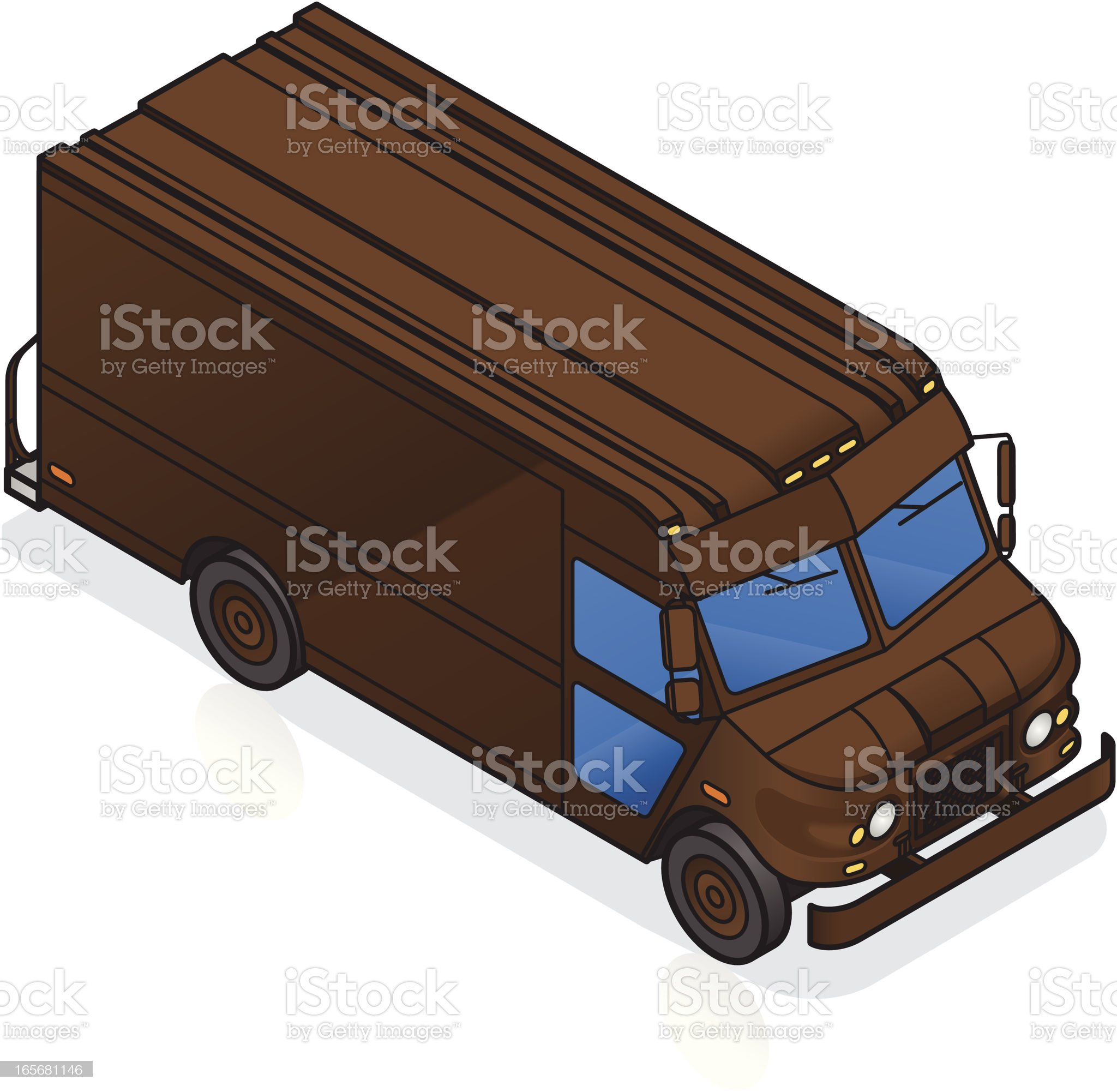 Package Delivery Truck Isometric royalty-free stock vector art