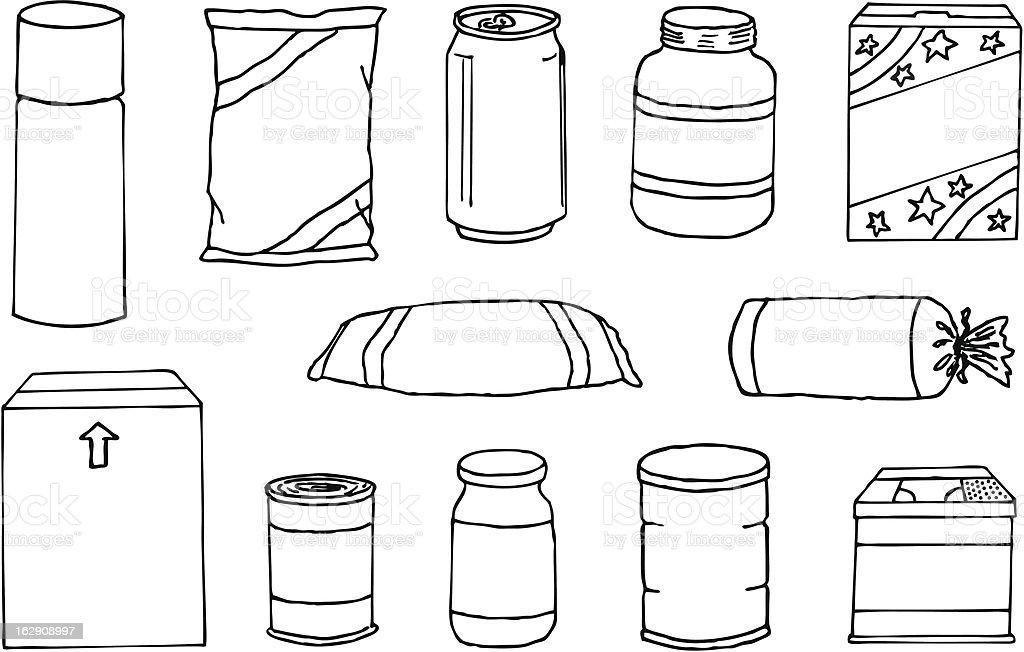 Package Doodles vector art illustration