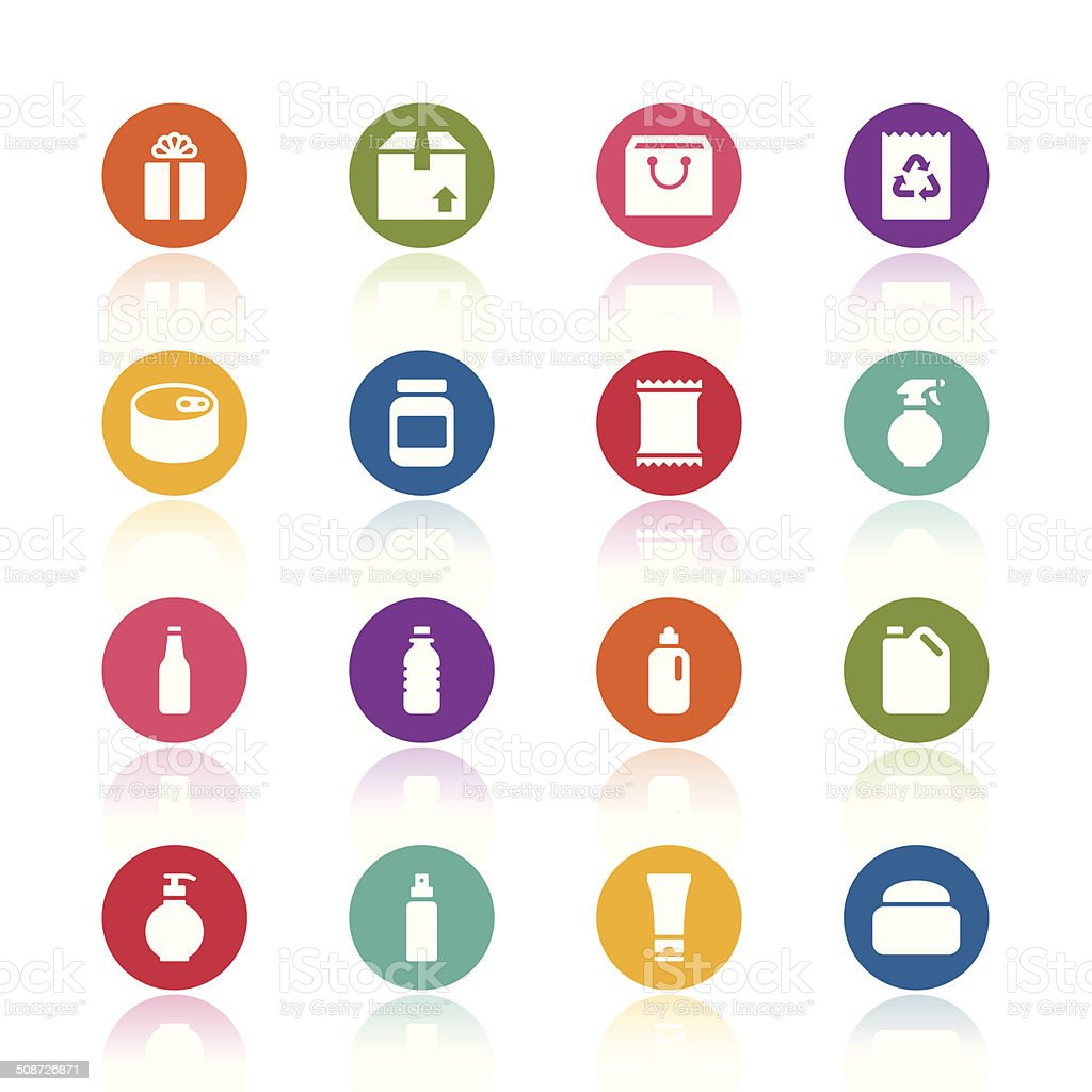 Package icons vector art illustration