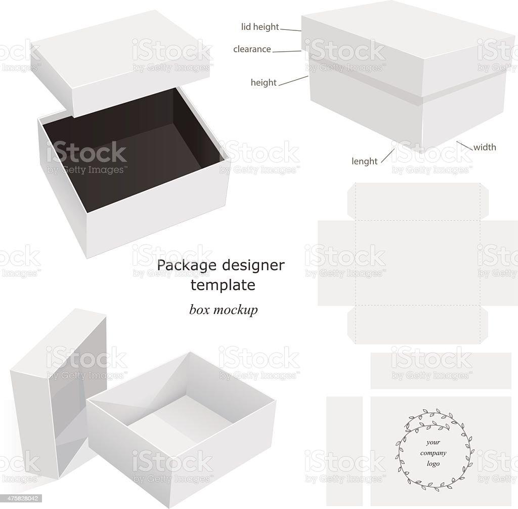 Package Mockup Box vector art illustration