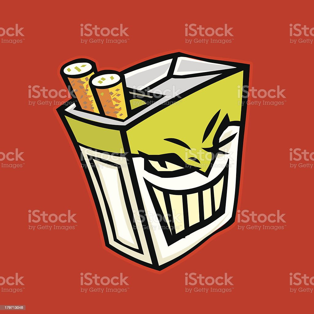 Package of Cigarettes royalty-free stock vector art