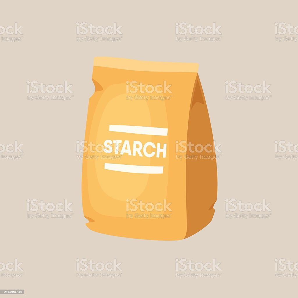 Package of starch vector art illustration