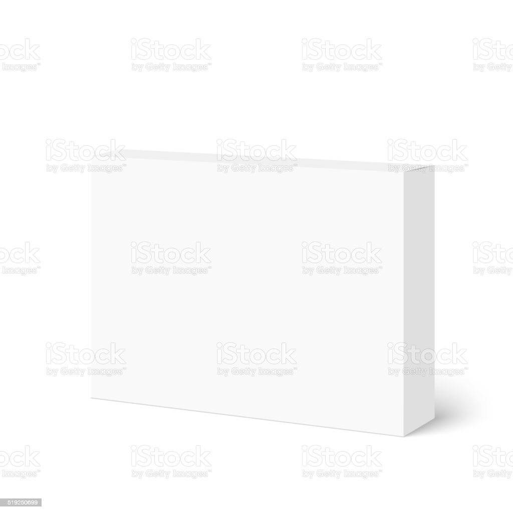 Package white box vector art illustration