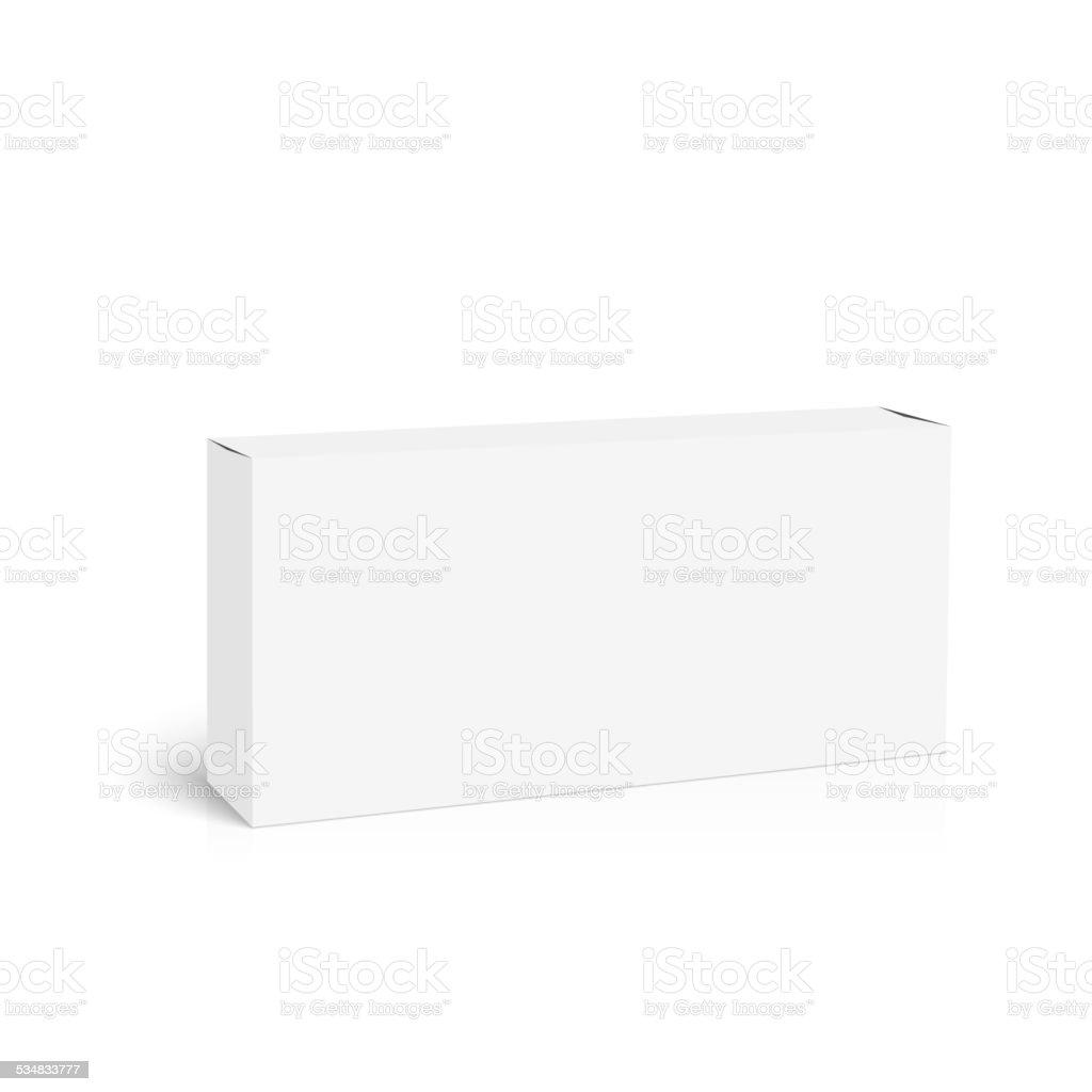 Package white box vector art illustration