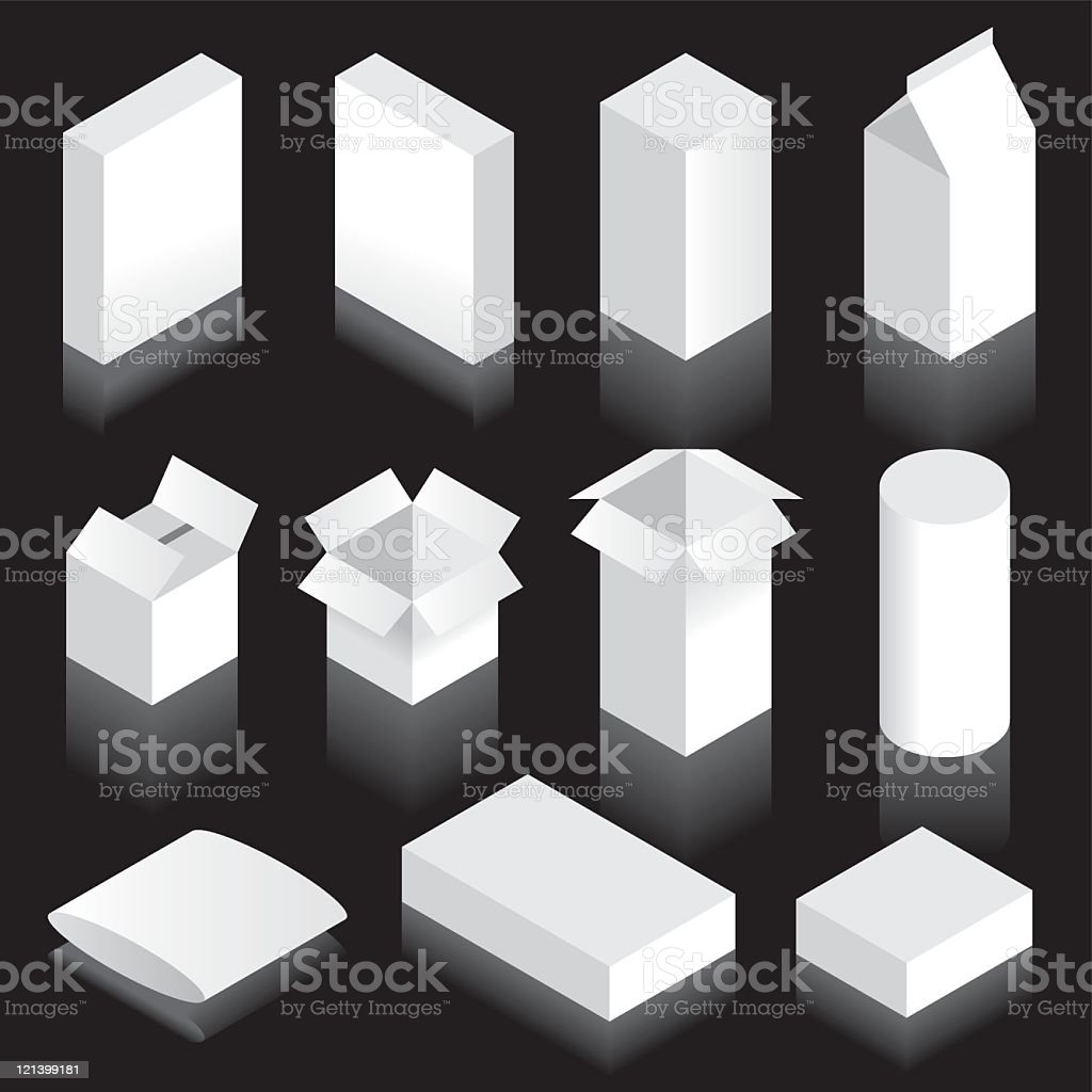Packaging Blanks royalty-free stock vector art