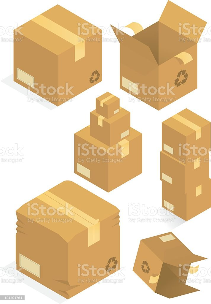Packaging boxes. royalty-free stock vector art