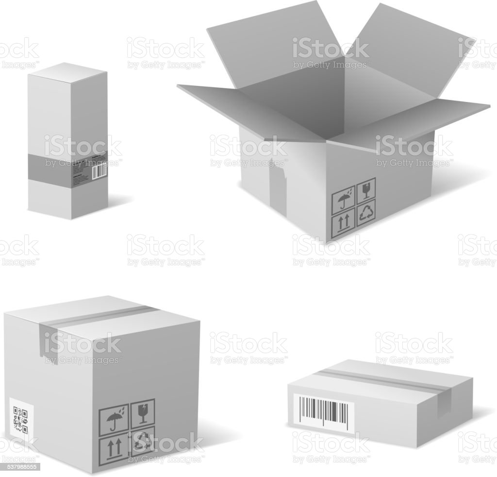 Packaging Boxes vector art illustration