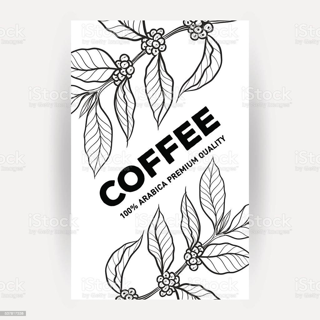 Packaging design for coffee vector art illustration