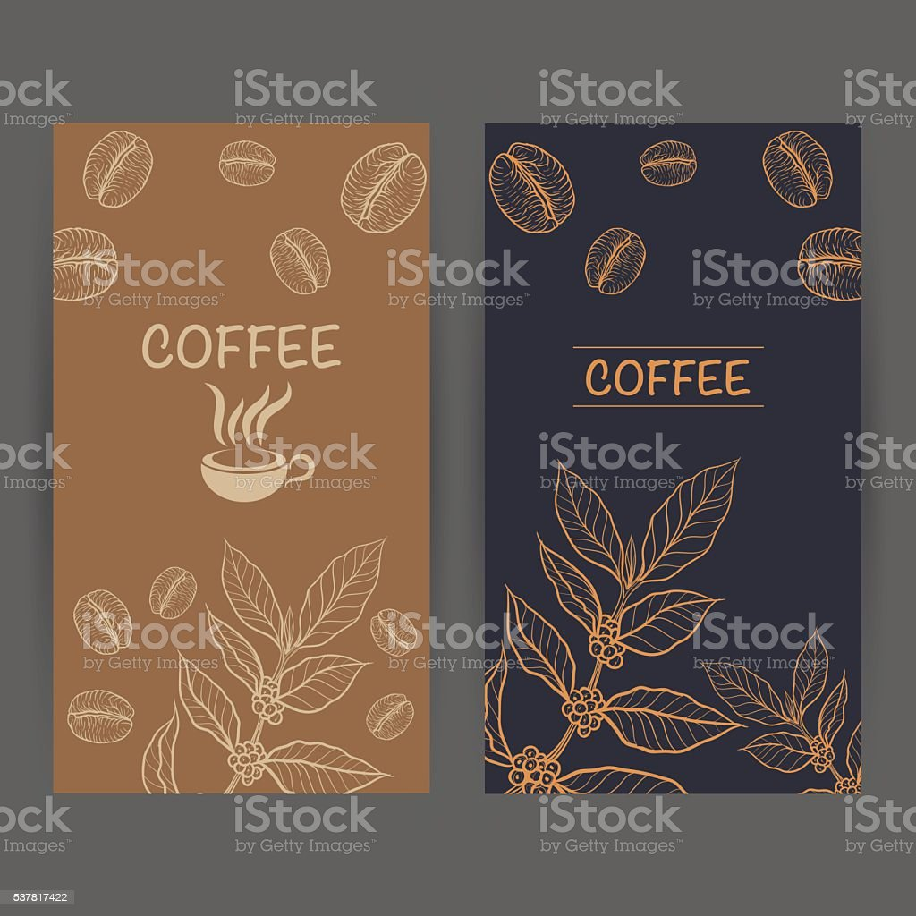 Packaging design for coffee vector art illustration