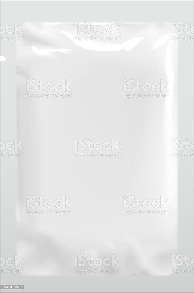 Packaging Foil Pouch Medicine vector art illustration