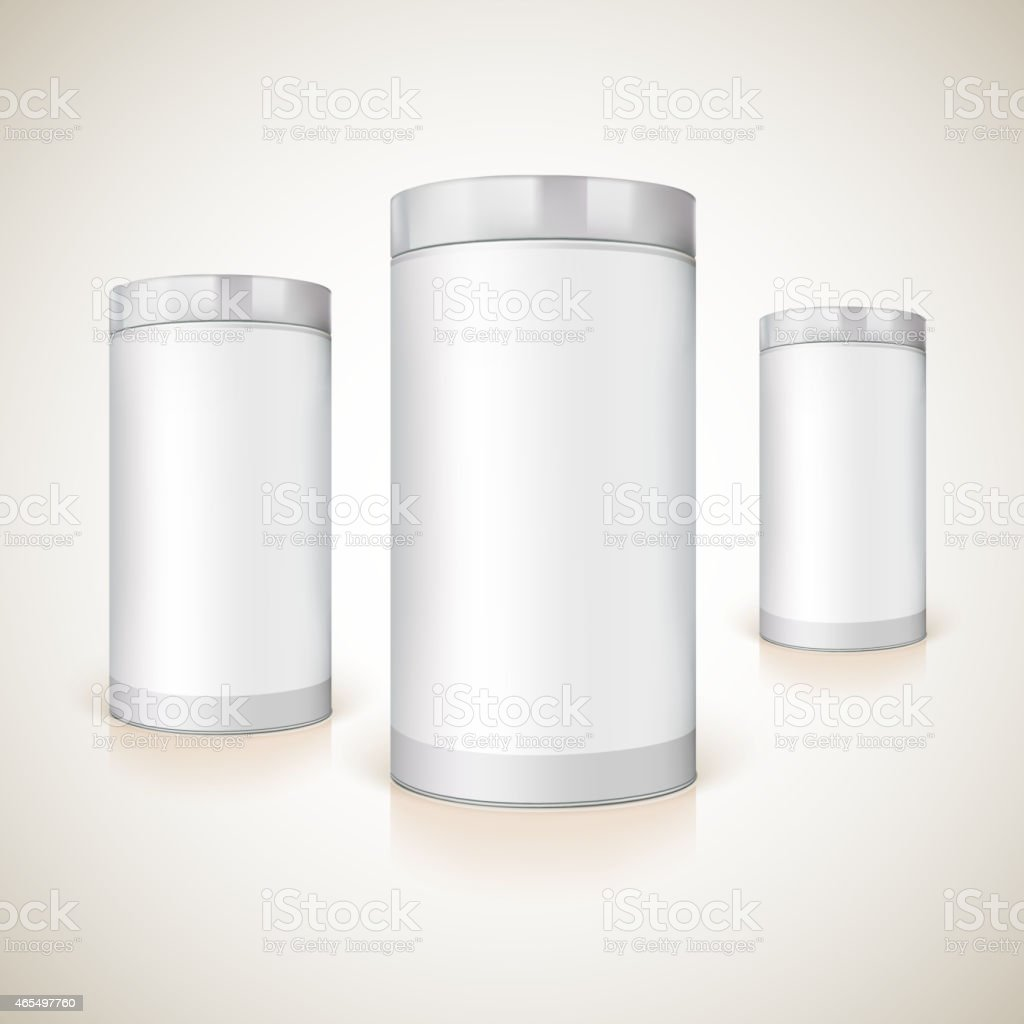 Packaging for the presentation of product. vector art illustration