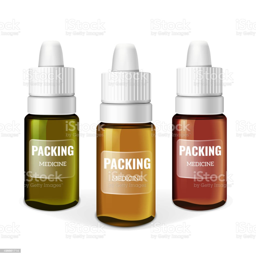 Packaging Pharmaceutical vector art illustration