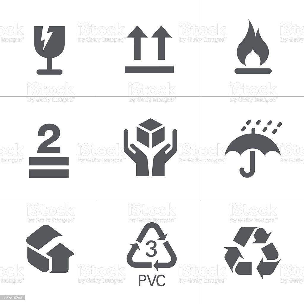 Packaging Signs & Symbols vector art illustration