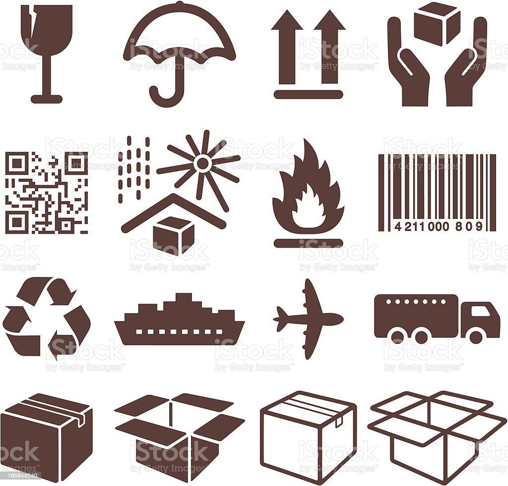 Packaging Symbols - Icons Set vector art illustration