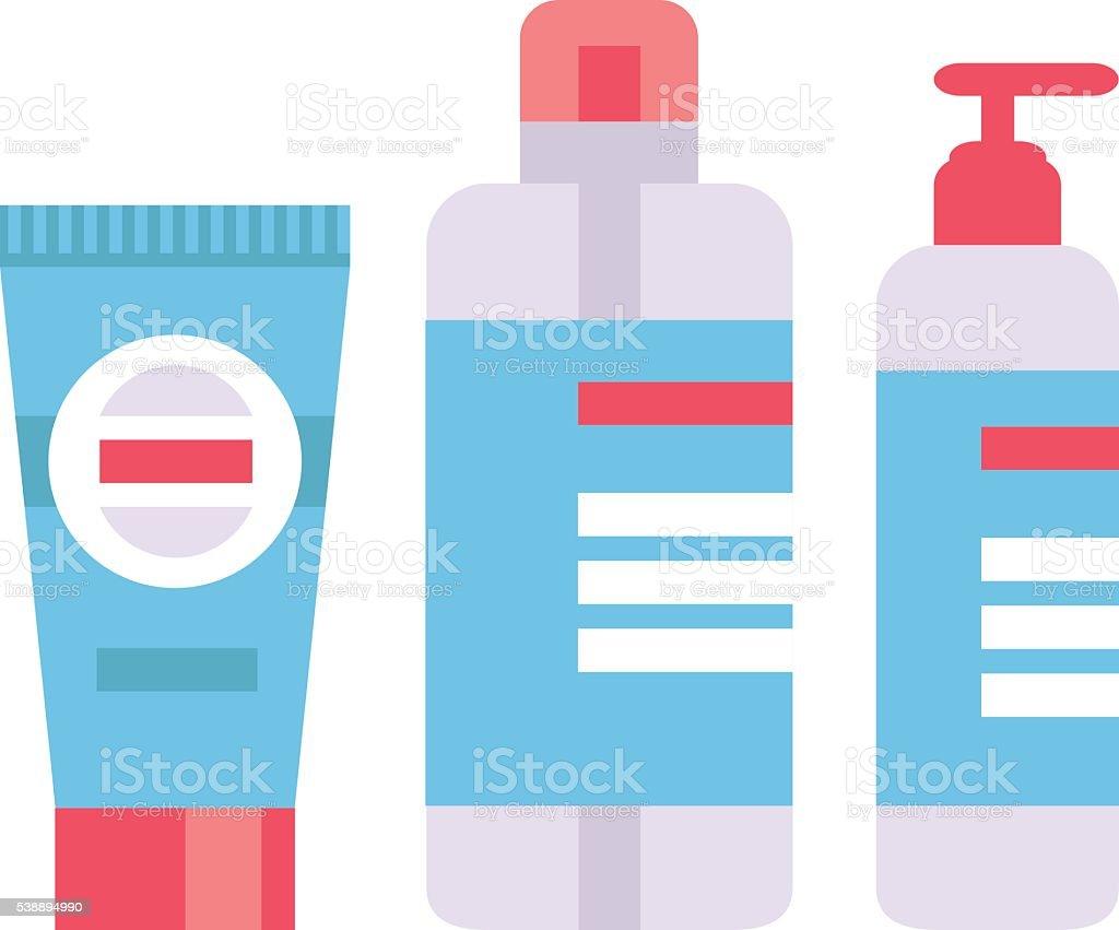 Packaging tubes vector illustration. vector art illustration