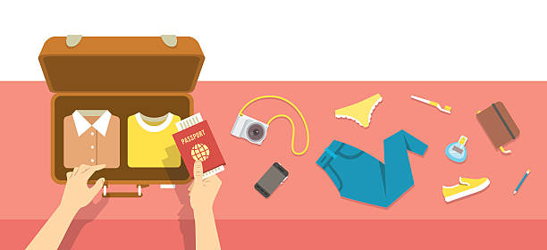 Open Suitcase Clip Art, Vector Images & Illustrations - iStock