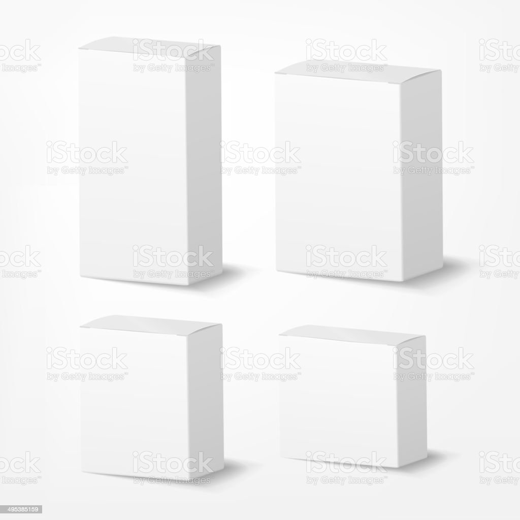 packing box on white background vector art illustration